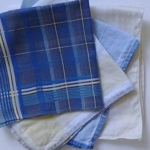 4/$15 - four vintage handkerchiefs